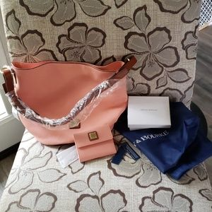 Dooney and bourke pale pink purse and wallet NWT